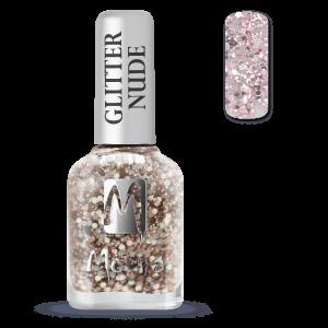 Moyra Glitter Nude Körömlakk 394 Rose