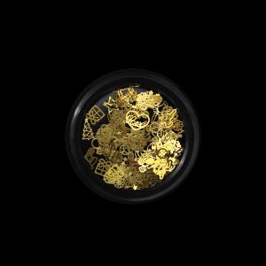 Moyra tégelyes körömdísz No. 03 Gold Metal