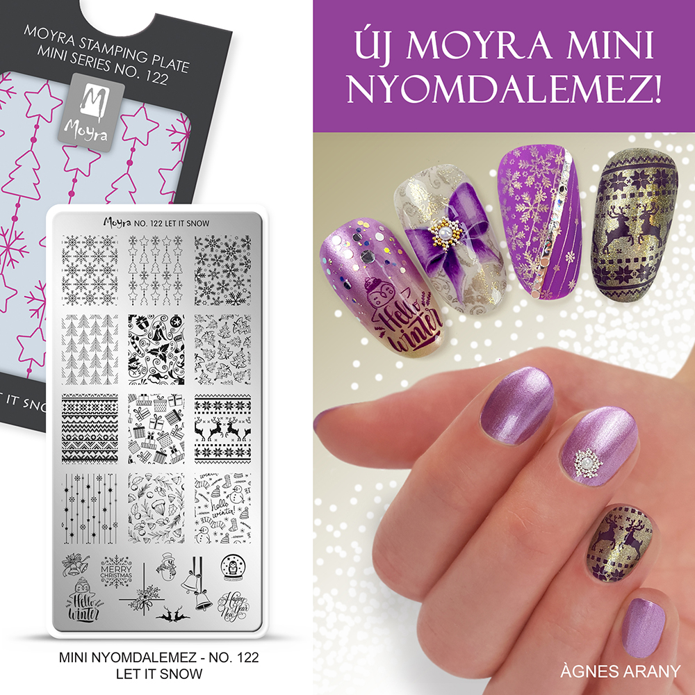 Moyra mini nyomdalemez No. 122 Let it snow