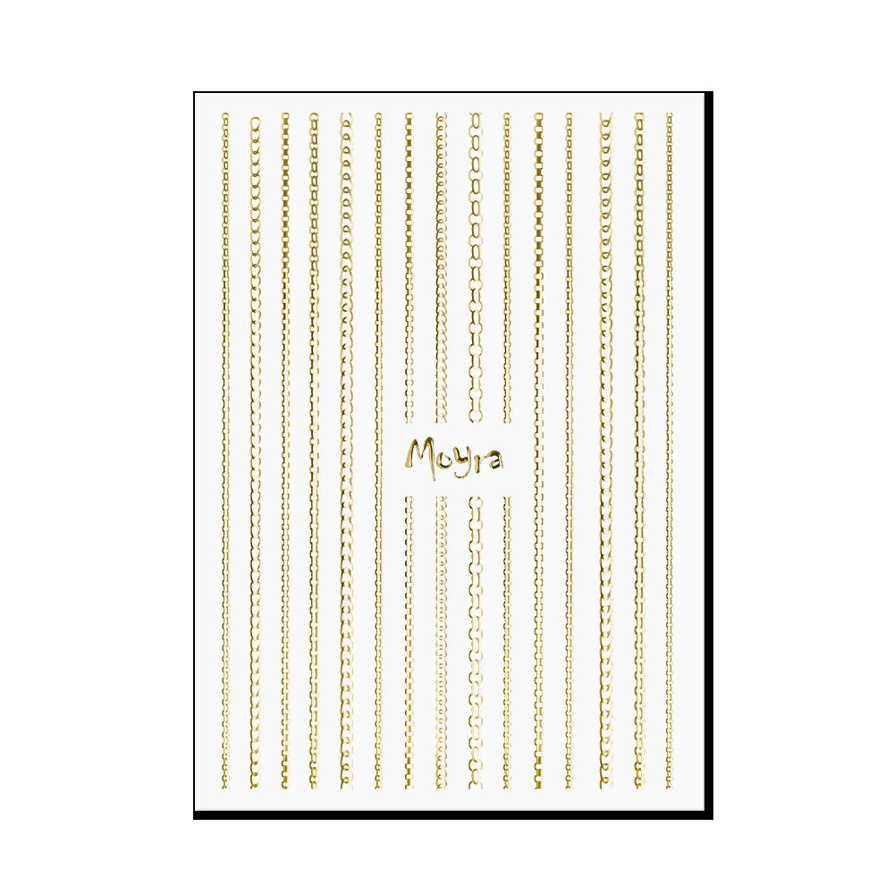Moyra Körömdíszítő csík - Chain No. 01 Arany