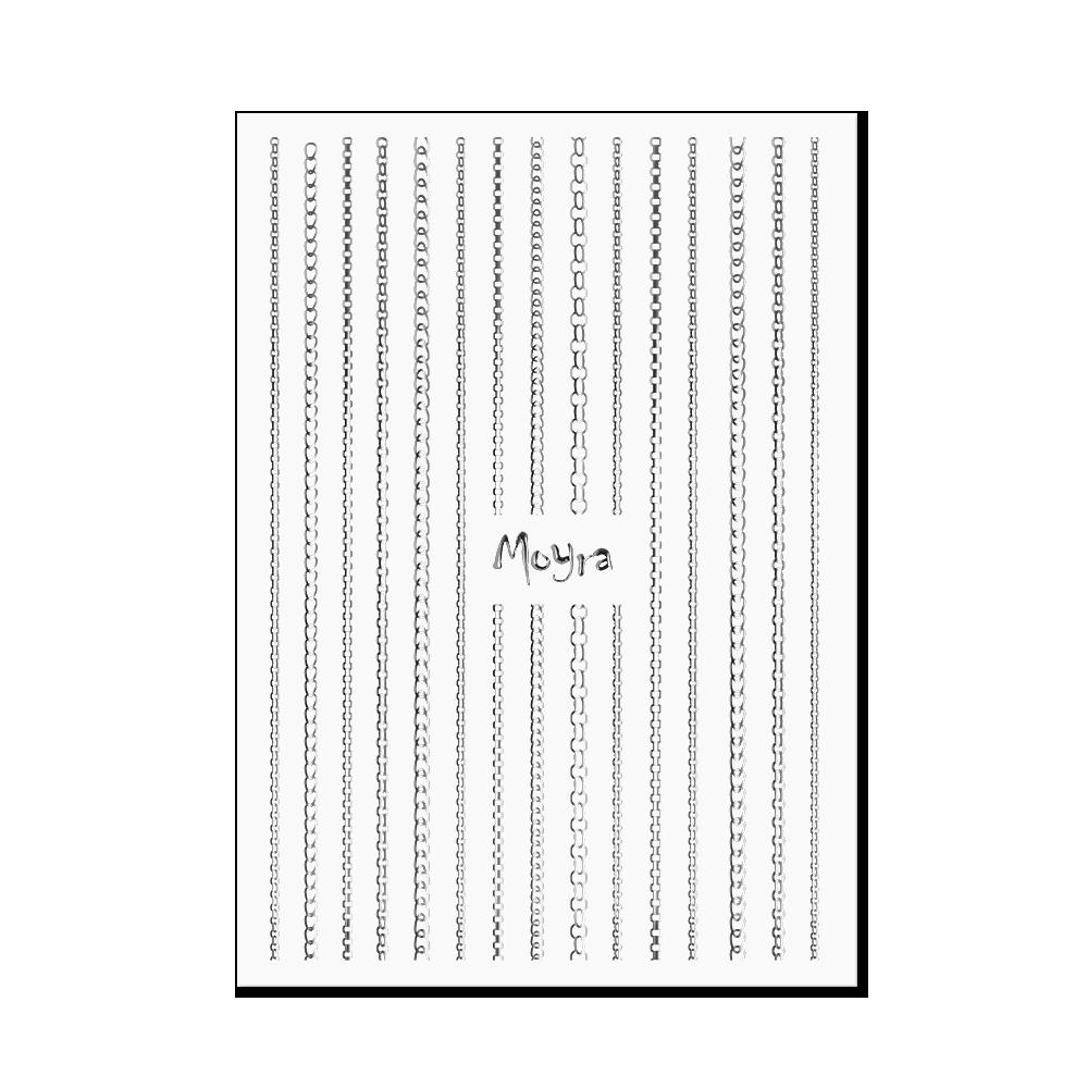Moyra Körömdíszítő csík - Chain No. 02 Ezüst