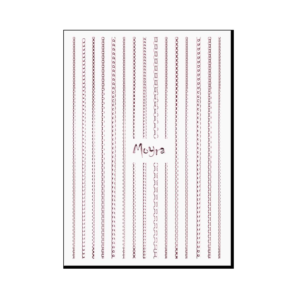 Moyra Körömdíszítő csík - Chain No. 03 Rose gold