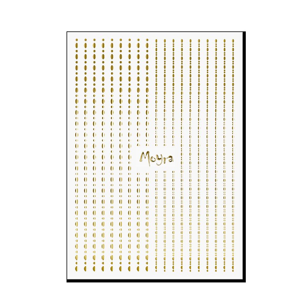 Moyra Körömdíszítő csík - Dots No. 01 Arany