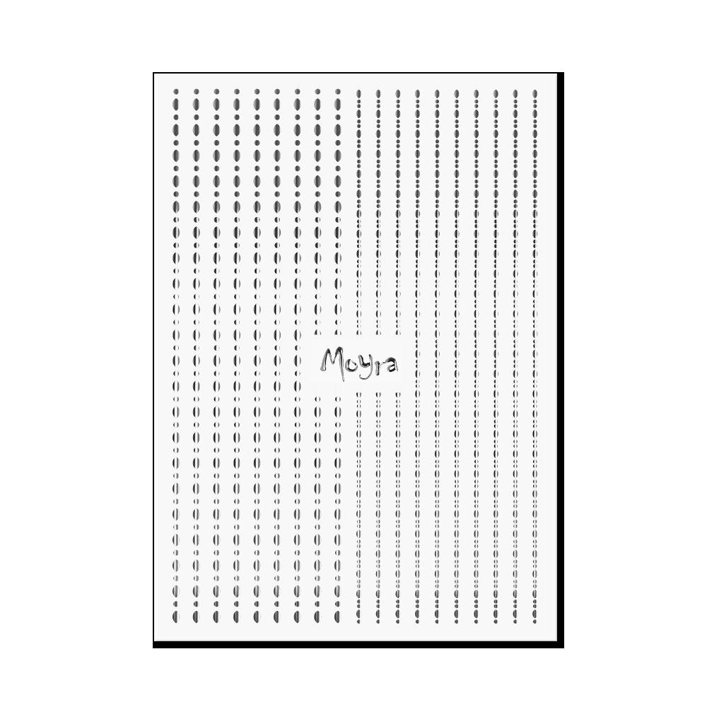 Moyra Körömdíszítő csík - Dots No. 02 Ezüst