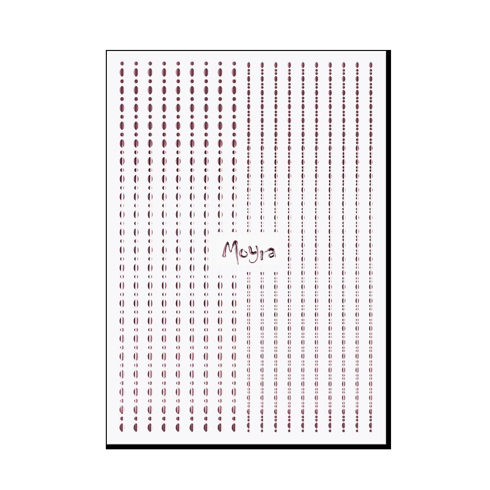 Moyra Körömdíszítő csík - Dots No. 03 Rose gold