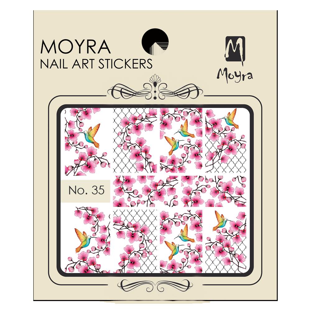 Moyra Körömdíszítő matrica 35