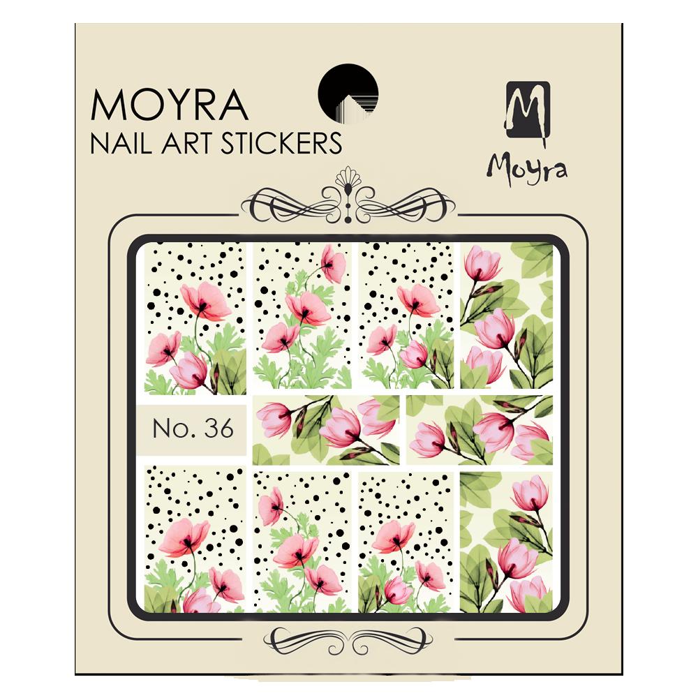 Moyra Körömdíszítő matrica 36