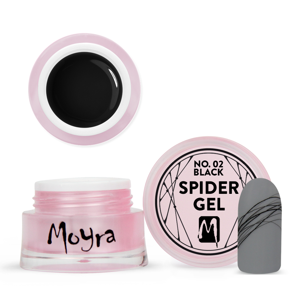 Moyra Spider gel No. 02 Black