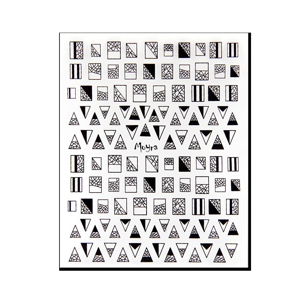 Moyra öntapadós körömdíszítő matrica No. 02, fekete