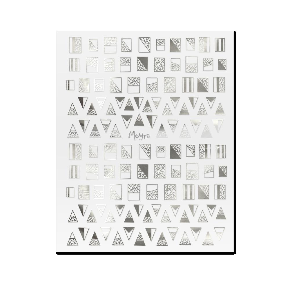 Moyra öntapadós körömdíszítő matrica No. 03, ezüst