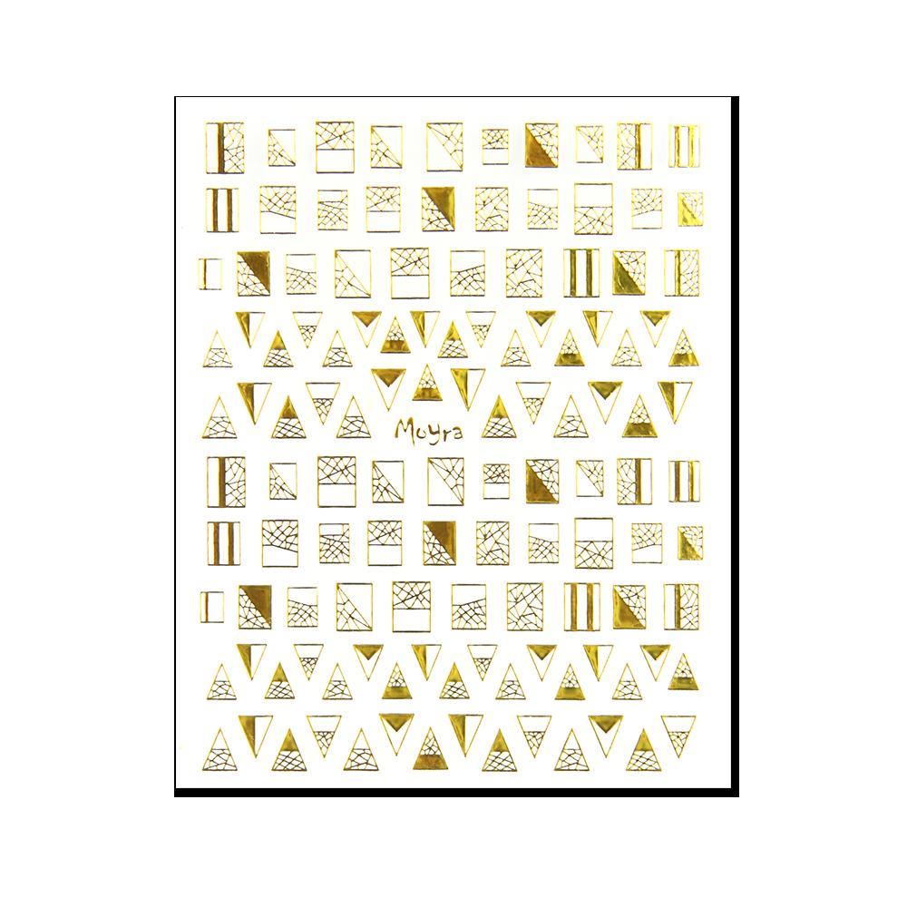 Moyra öntapadós körömdíszítő matrica No. 04, arany