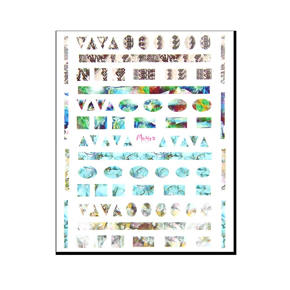 Moyra öntapadós körömdíszítő matrica No. 05
