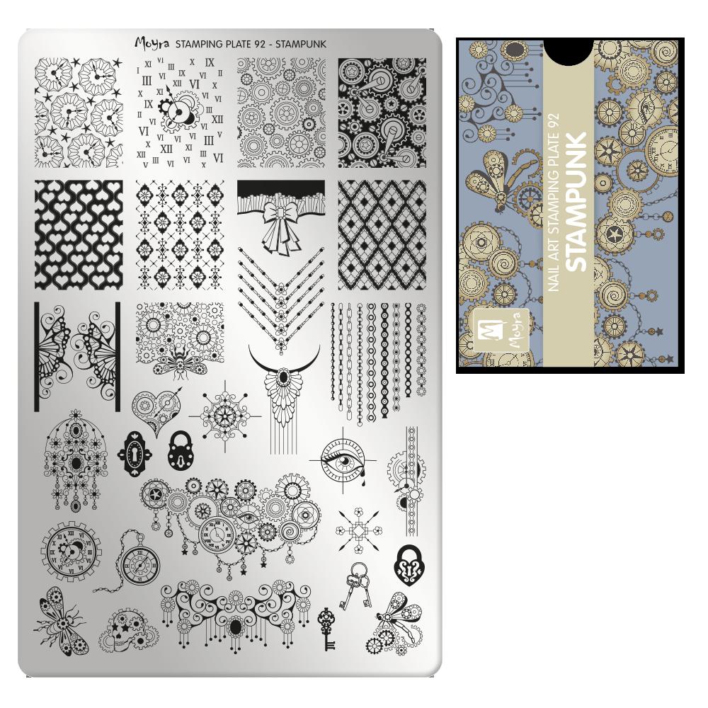 Moyra Körömnyomda lemez 92 Stampunk