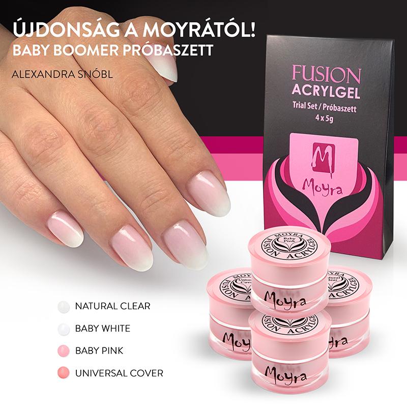 Moyra Fusion Acrylgel – két terméktípus előnyei alapján kifejlesztve