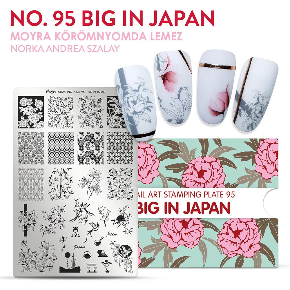 Moyra Körömnyomda lemez 95 Big in Japan Inspiráció