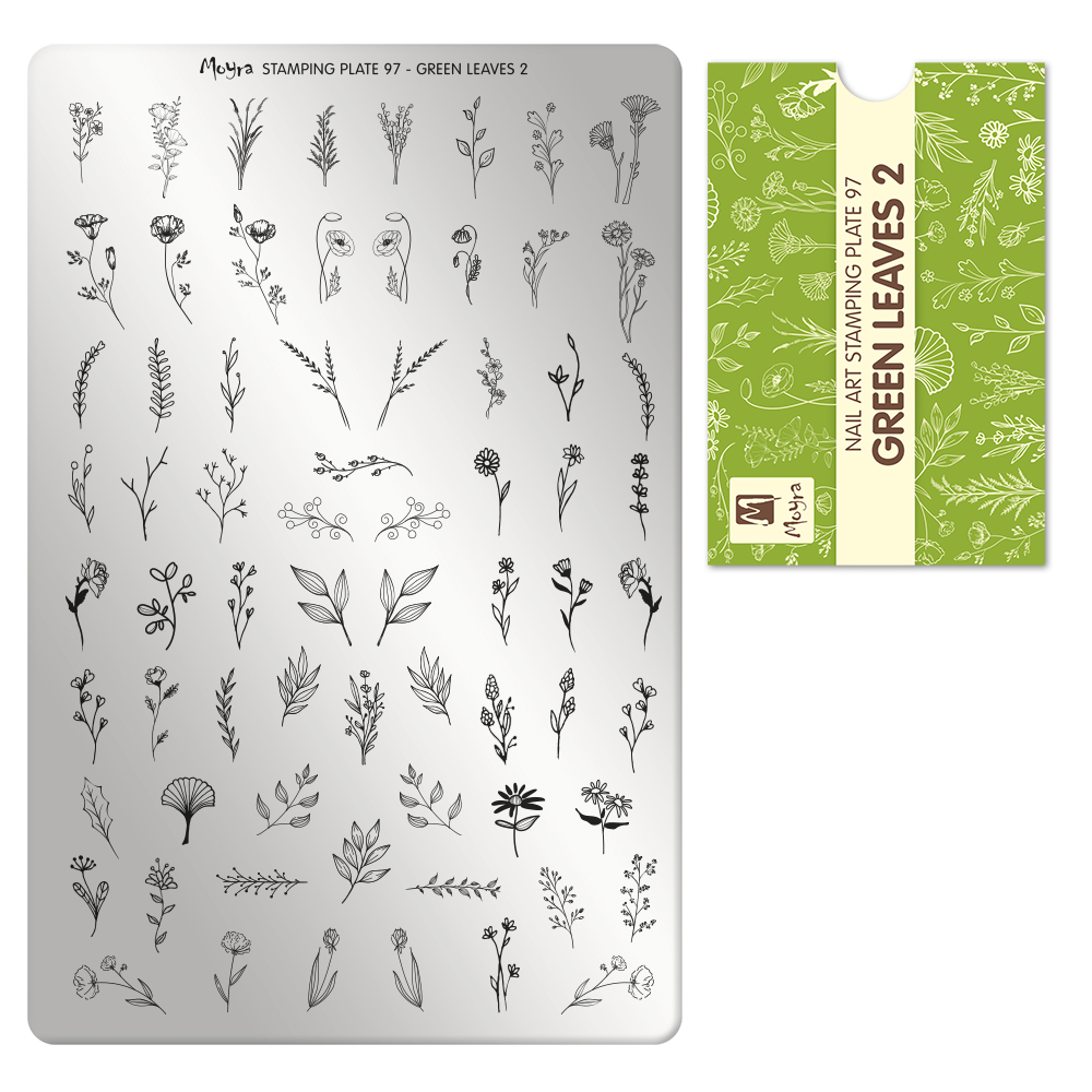 Moyra Körömnyomda lemez 97 Green leaves 2