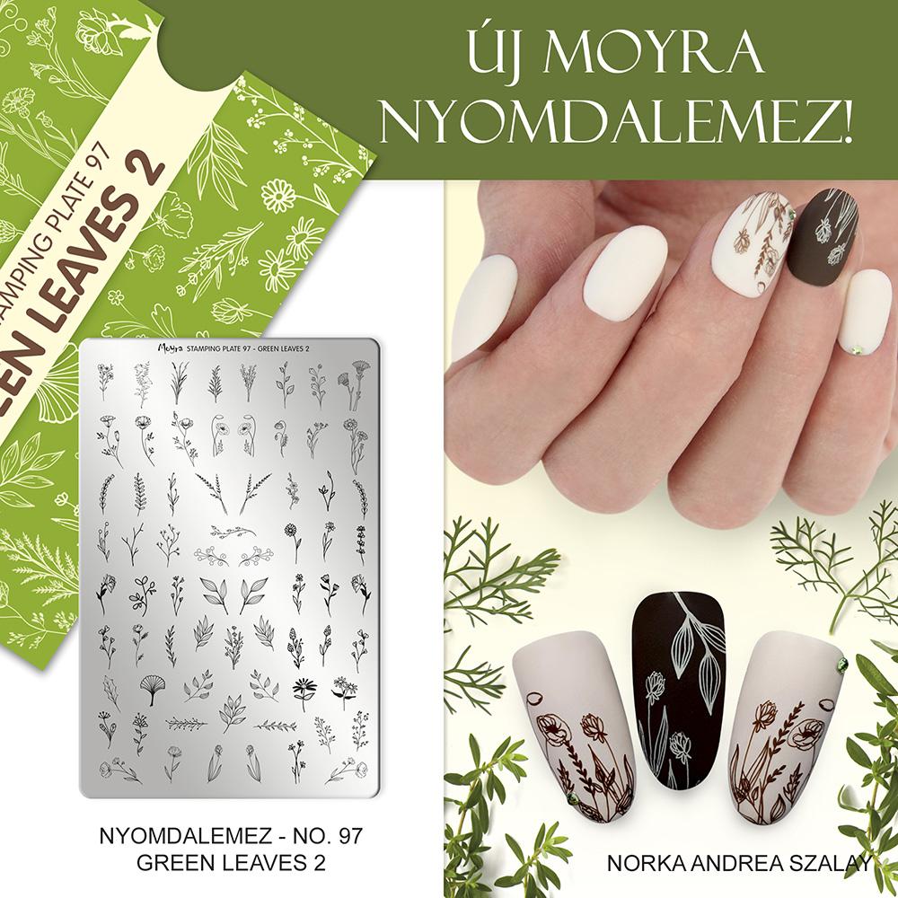 Moyra Körömnyomda lemez No. 97 Green leaves 2 inspiráció