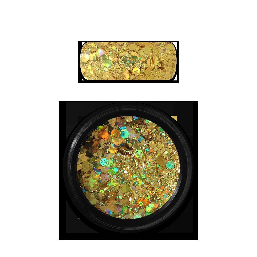 Moyra Holo glitter mix No. 07 Sötét arany