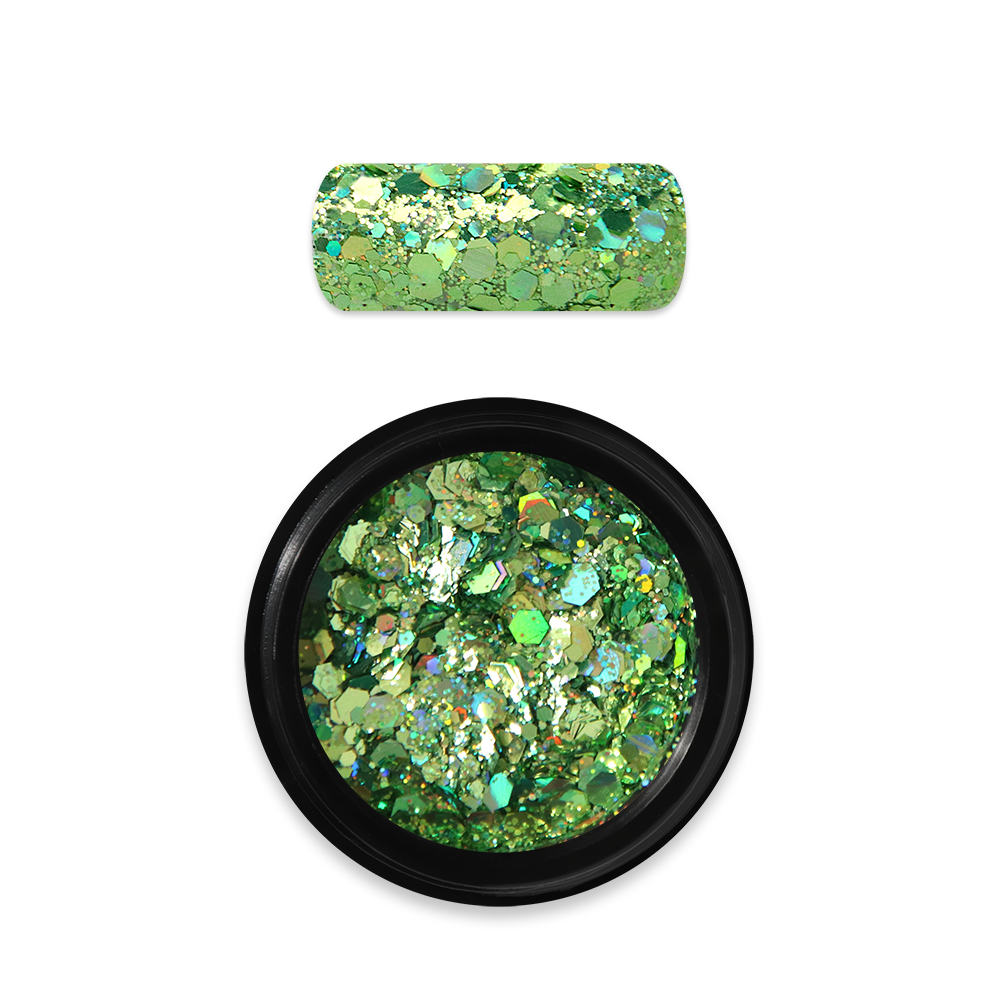 Moyra Holo glitter mix No. 08, Zöld