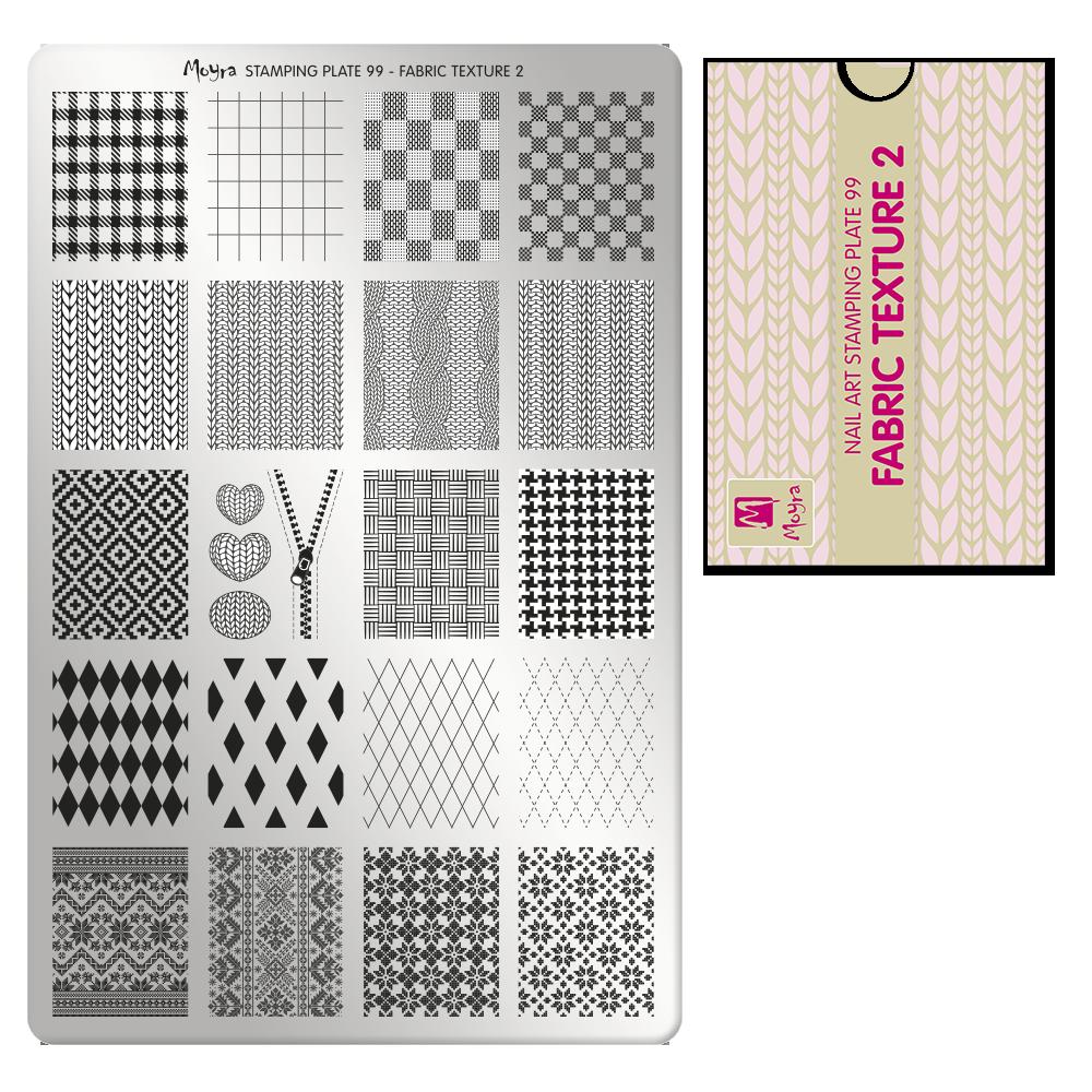 Moyra Körömnyomda lemez 99 Fabric Texture 2