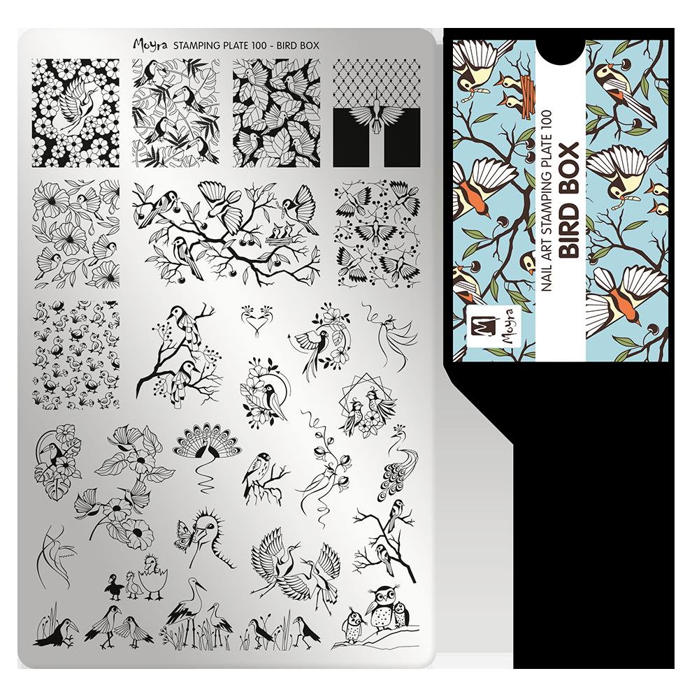 Moyra Körömnyomda lemez 100 Birdbox