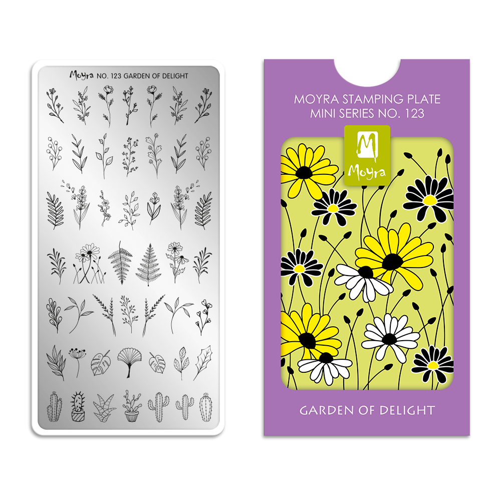 Moyra Mini Körömnyomda lemez 123 Garden of delight