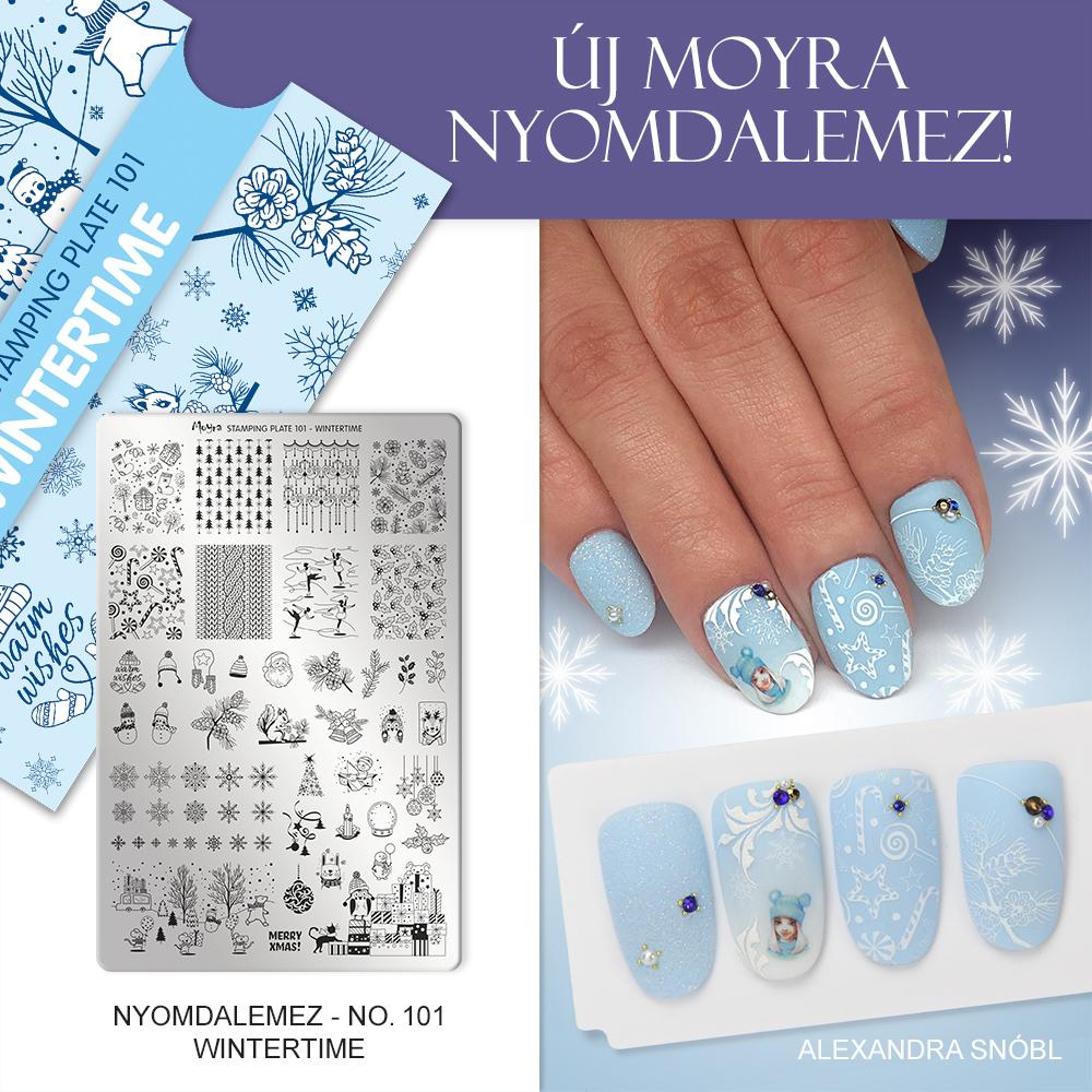 Moyra Körömnyomda lemez 101 Wintertime Inspiráció