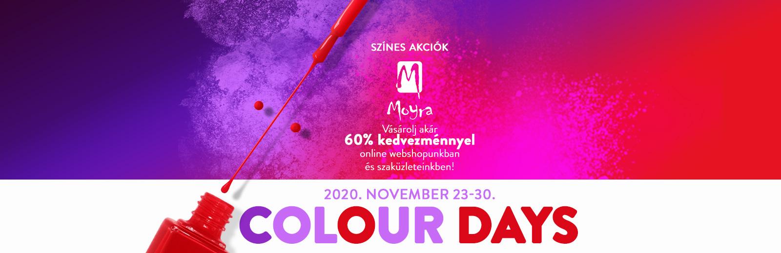 Moyra Colour Days - Színes Akciók