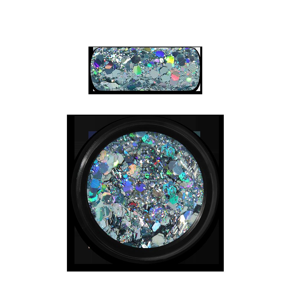 Moyra Holo glitter mix No. 09, Világoskék