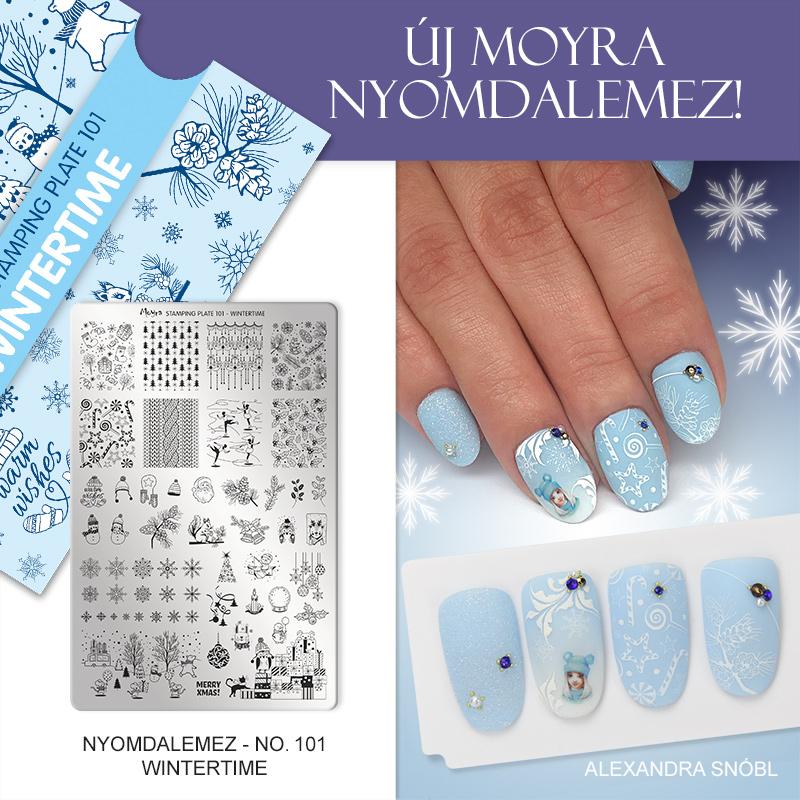Moyra Körömnyomda lemez 101 Wintertime Alexa Inspiráció