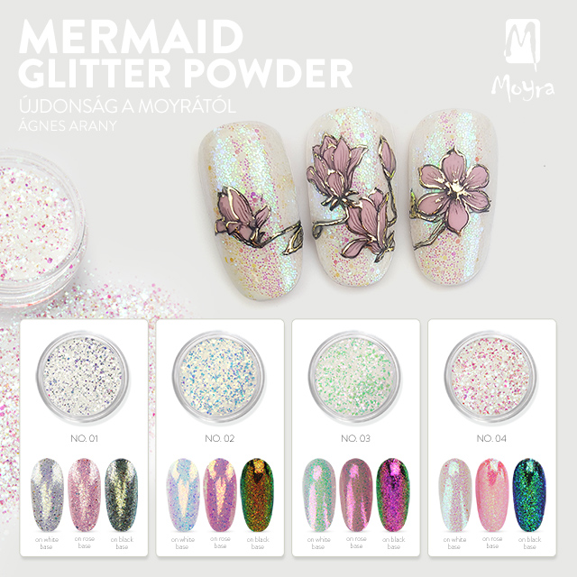 Moyra Mermaid Glitter Powder - No. 01, No. 02, No. 03, No. 04