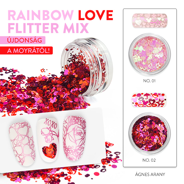 Rainbow Love Flitter Mix