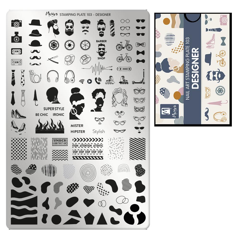Moyra Körömnyomda lemez 103 Designer