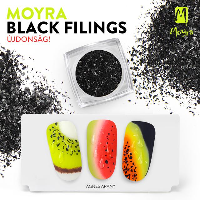 Újdonság! Moyra Black filings körömdíszítő