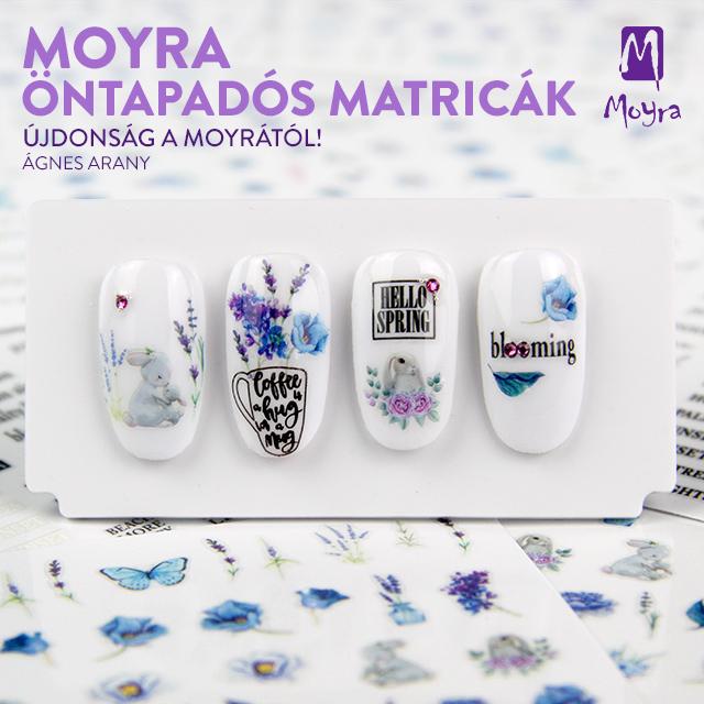 Újdonságok! Moyra öntapadós körömmatricák - No. 16, No. 17