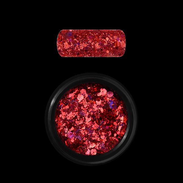 Moyra Holo glitter mix No. 11, Piros