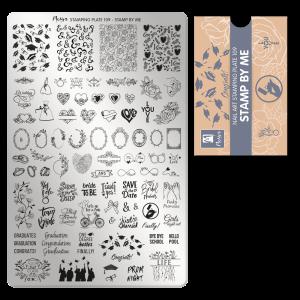 Moyra Körömnyomda lemez 109 Stamp by me