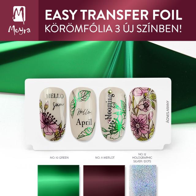 Moyra Easy Transfer Foil - 3 új szín!