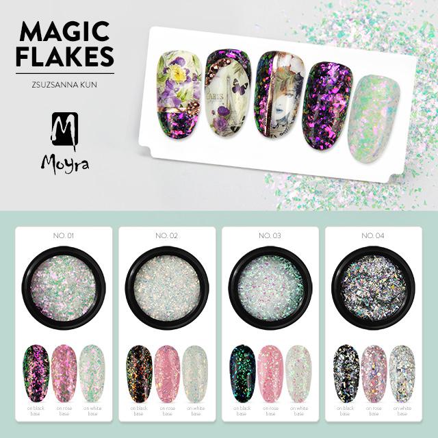 Újdonság! Moyra Magic Flakes No. 01 - No. 04
