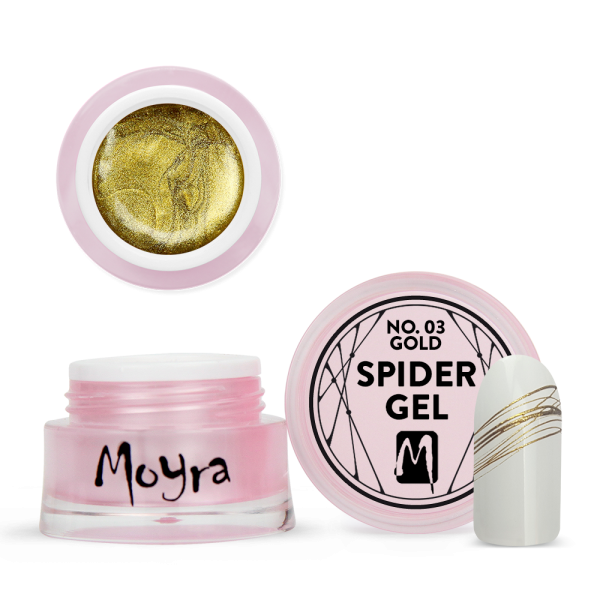 Moyra Spider gel No. 03 Gold