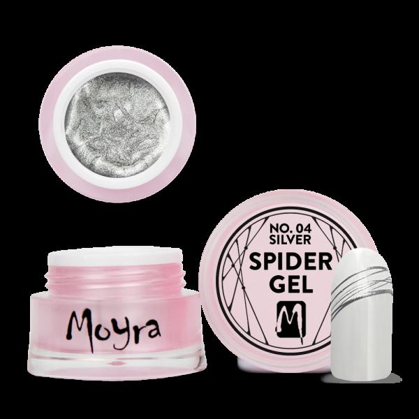 Moyra Spider gel No. 04 Silver