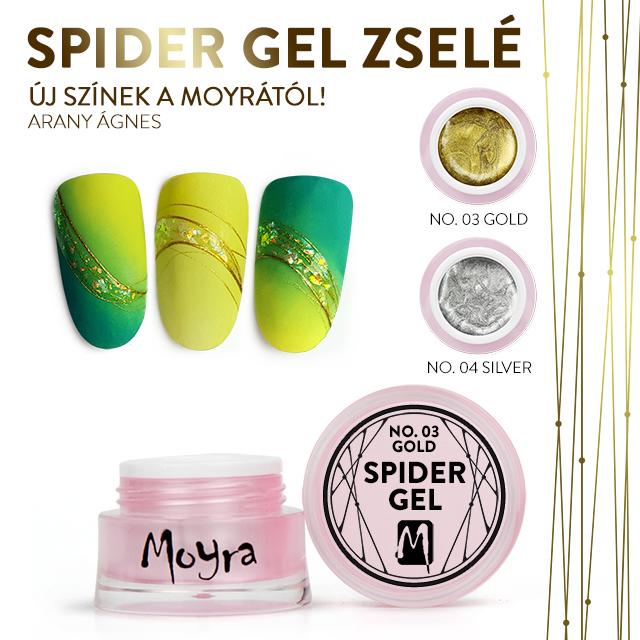 Moyra Spider Gel - No. 03 Gold, No. 04 Silver