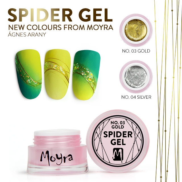 Moyra Spider Gel - No. 03 Gold, No. 04 Silver