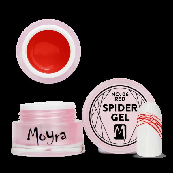 Moyra Spider gel No. 06 Red